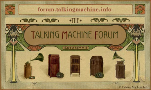 The Talking Machine Forum Estd. MMIIX